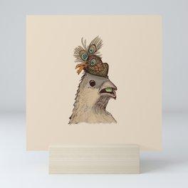 Bird in Hat 3 Mini Art Print