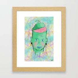 Open your mind. Framed Art Print