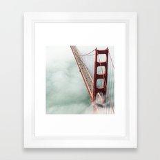golden gate bridge in san francisco Framed Art Print