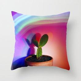 Supercolor Cactus Throw Pillow