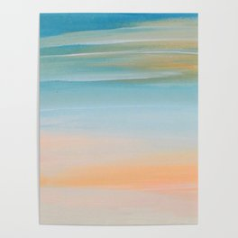 Fresh Colors Painterly Abstract Poster