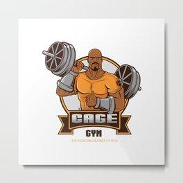 Steel Hero Gym Metal Print