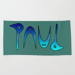 Paul (Ambigram) Namendreher Beach Towel