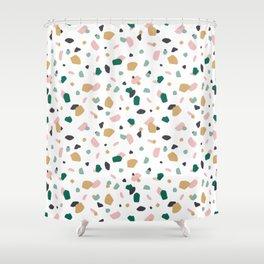 Tropical Terrazzo Shower Curtain