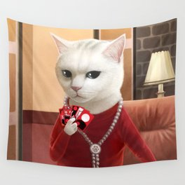 Gambler Cat Wall Tapestry