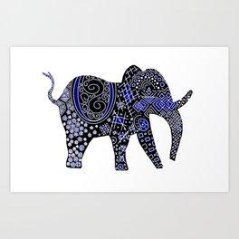 Patterned Elephant Art Print