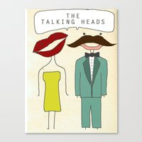 talking heads Canvas Prints featuring The Talking Heads by Courtney Vlaming