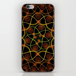 Spiral Round Black iPhone Skin