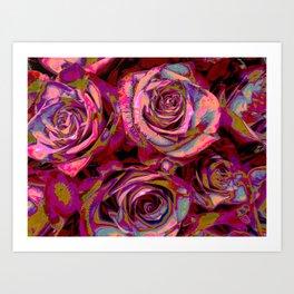 Extreme Roses Art Print