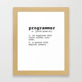Programmer meaning Framed Art Print