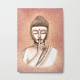 Buddha Shh.. Do not disturb - Colored version Metal Print