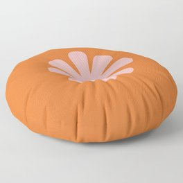 Retro Flower Single in Pink, White, and Orange Floor Pillow