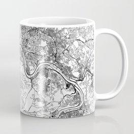 Pittsburgh White Map Coffee Mug