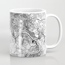 Pittsburgh White Map Coffee Mug