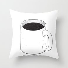 Space coffee Throw Pillow