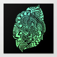 zentangle Canvas Prints featuring Zentangle by Riaora Creations