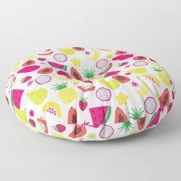 Tutti Frutti Summer Fruit Pattern Floor Pillow