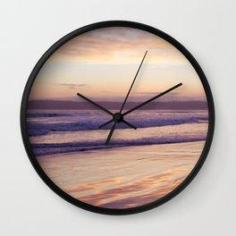 Sunset at Coronado Beach Wall Clock