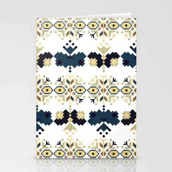Bulgarian Embroidery Pattern 03 (Color option) Stationery Cards