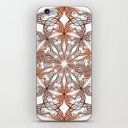 Mandala metal and orange iPhone Skin