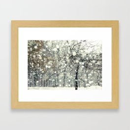 In the Snow Framed Art Print