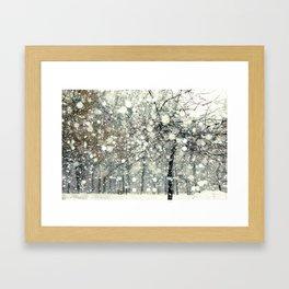 In the Snow Framed Art Print