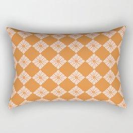 Moroccan Diamond Tiles, Blush and Burnt Orange Palette Rectangular Pillow