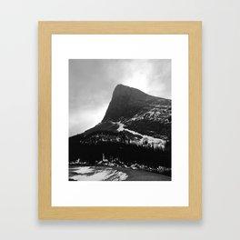 Shark Fin Peak Framed Art Print