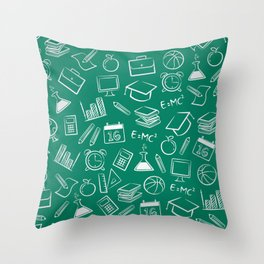 School chemical #7 Throw Pillow