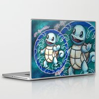 squirtle Laptop & iPad Skins featuring 7 - Squirtle by Lyxy