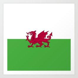 Wales flag emblem Art Print
