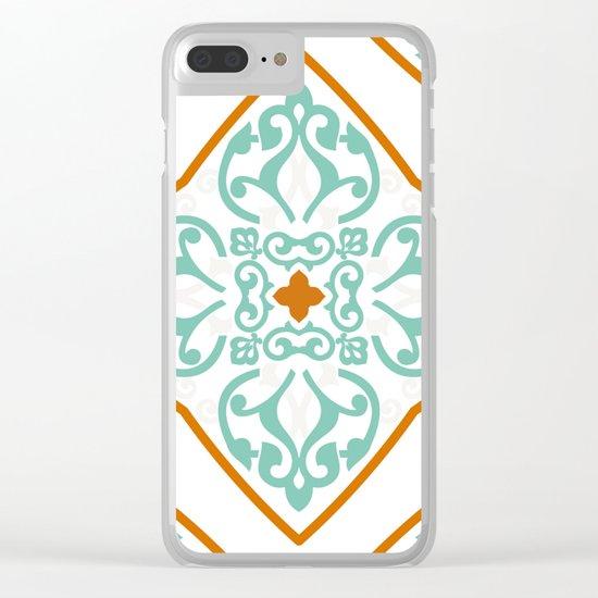 Boho Mandala II Clear iPhone Case