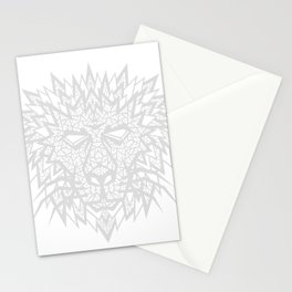 Heart of a Lion - Gray Stationery Cards