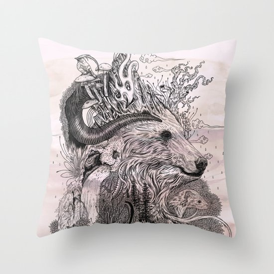 Forest Warden Throw Pillow
