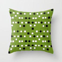 Pedigree Analysis - Autosomal Dominant Throw Pillow