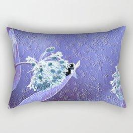 Blooming in the sky (blue-violet granite) Rectangular Pillow