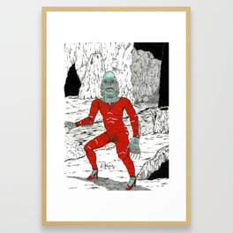 The Creature From The Red Latex Lagoon Framed Art Print