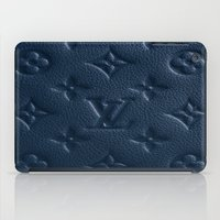 lv iPad Cases featuring Blue LV by I Love Decor