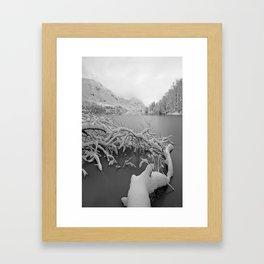 Wintry Lake Bohinj Framed Art Print