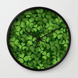 Clover leaves 001 Wall Clock