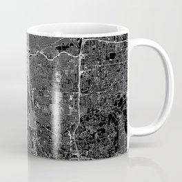 Portland Black Map Coffee Mug