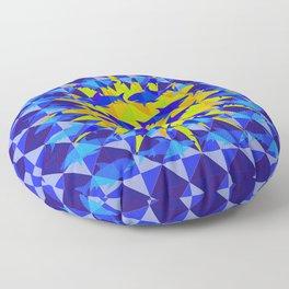 Blue Shark Sun Floor Pillow