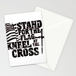 Stand For the Flag Kneel at the Cross Stationery Cards