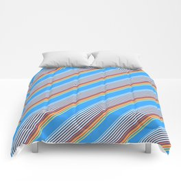Summer Inclined Stripes Comforters
