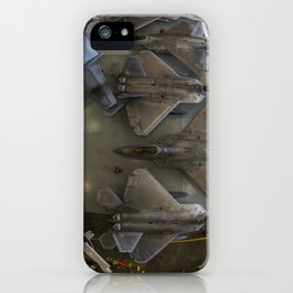 160. At Hangar, Raptors Find Shelter from the Storm iPhone Case