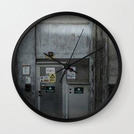 The Dark Metal Door (Color) Wall Clock