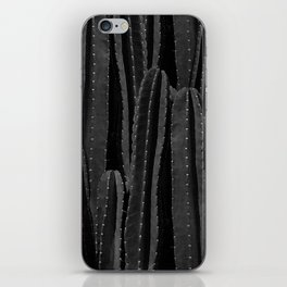 Cactus Black & White iPhone Skin