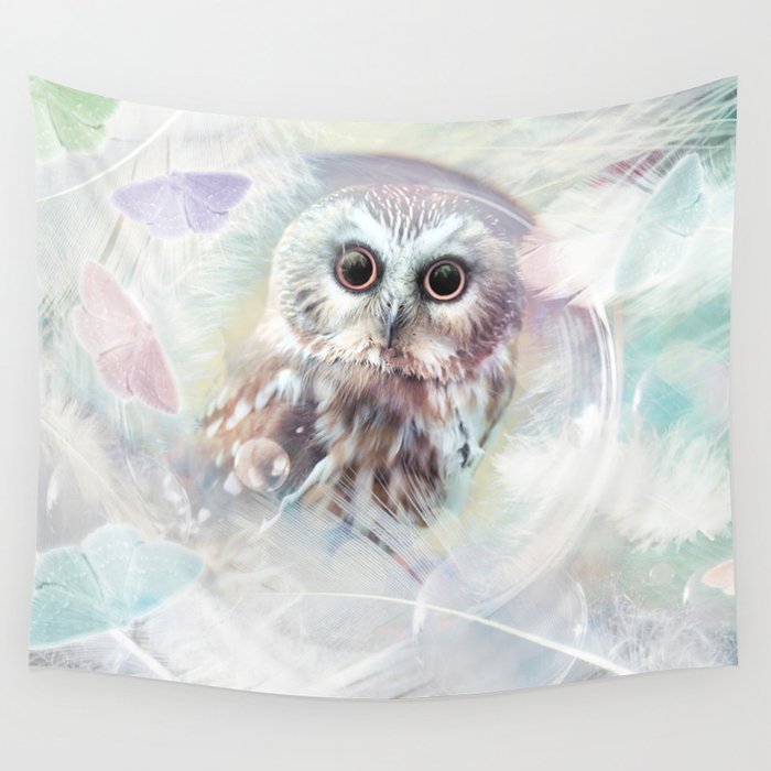 Chouette douceur Wall Tapestry