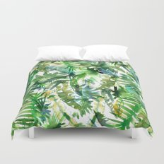 VIBE of the Jungle  {A-green} Duvet Cover