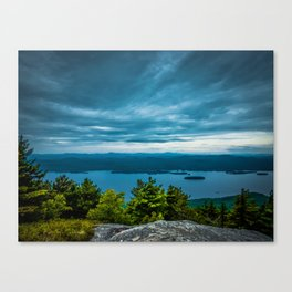 View from the top of a mountain Canvas Print
